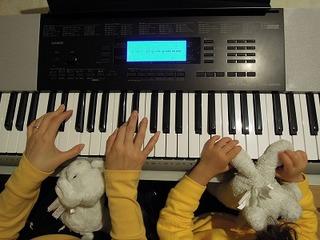 オルガンhimeとオルガン姫子CASIO CTK-4200キーボード練習中